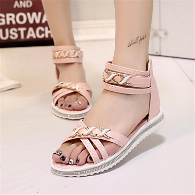 Women's Shoes PU Spring Comfort Sandals For Casual Blushing Pink Light Blue