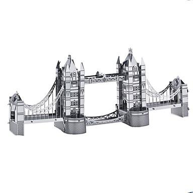 Carros de Brinquedo Quebra-Cabeças 3D Quebra-Cabeça Quebra-Cabeças de Metal Rectângular Tanque Castelo Construções Famosas Arquitetura 3D