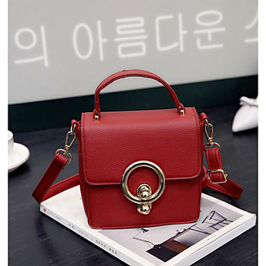 Women Bags All Seasons PU Shoulder Bag for Casual Outdoor Green Black Red
