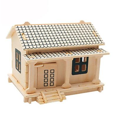 3D építőjátékok Fejtörő Wood Model Repülőgép Népszerű épület Ház DIY Kártyapapír Fa Klasszikus Gyermek Uniszex Ajándék