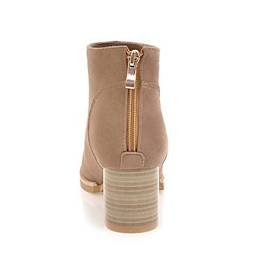 Similicuir Beige Bottier Confort Chameau rond Bout Demi Chaussures Talon Fermeture Hiver Femme 06048599 Automne Bottes Bottine Botte Gris Sx6w5Ungq