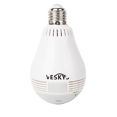 veskys® 960p 360 graus fisheye hd vista completa câmera ip wi-fi (1.3mp 10m visão dupla conversa dupla)