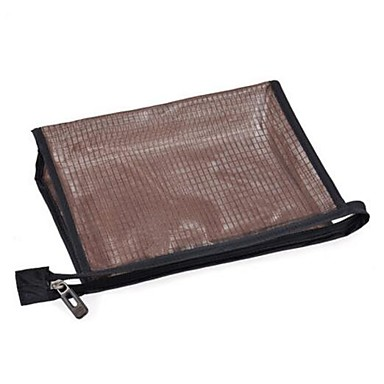 Unisex Storage Bag Polyester All Seasons Casual Outdoor Rectangle Zipper Coffee