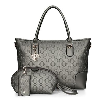 Women's Bags PU Crossbody Bag Zipper Black / Blushing Pink / Gray