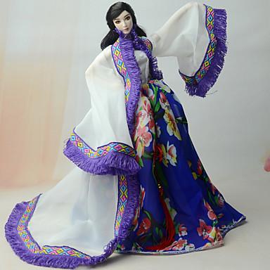 Leningit ja hameet Pukeutua varten Barbie-nukke Satiini / tylli Sifonki Takki Leninki varten Tytön Doll Toy