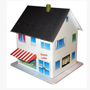 Quebra-Cabeças 3D Maquetes de Papel Artesanato de Papel Brinquedos de Montar Quadrada Construções Famosas Casa Arquitetura 3D Faça Você
