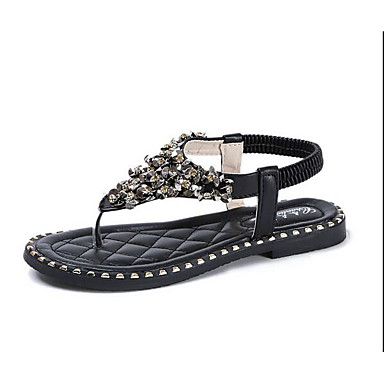 Women's Shoes PU Summer Comfort Sandals For Casual White Black