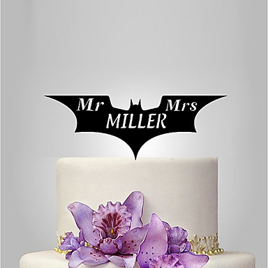 Cake Topper Classic Theme Wedding Plastic Wedding Anniversary With Poly Bag