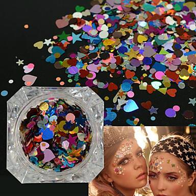 1bottle fashion glitter sequins nail art shining thin slice lovely heart star irregular colorful pattern design women beauty diy supplies decoration