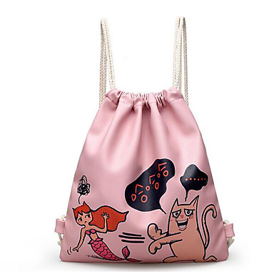 Women's Bags PU Backpack for Casual All Seasons Blushing Pink Silver Gray
