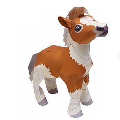 Quebra-Cabeças 3D Maquetes de Papel Artesanato de Papel Brinquedos de Montar Cavalo Animais Simulação Faça Você Mesmo Cartão de Papel Duro