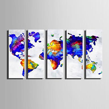 Tela de impressão 5 Painéis Tela de pintura Vertical Estampado Decoração de Parede Decoração para casa