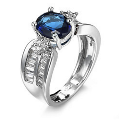 Dame Steninnfatninger Ring Band Ring Kubisk Zirkonium Rhinstein Personalisert Luksus Geometrisk Rundt design Unikt design Klassisk