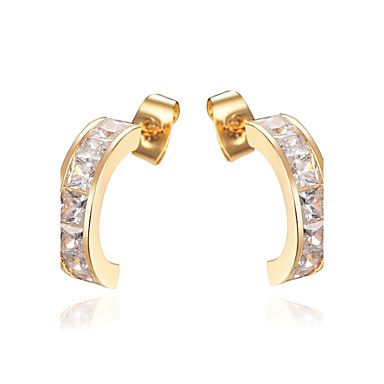 Women's Stud Earrings Cubic Zirconia Classic Fashion Alloy Jewelry Wedding Party Engagement Gift Ceremony Evening Party Costume Jewelry