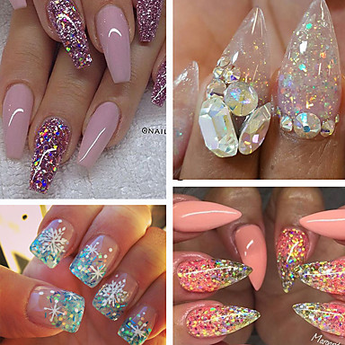 40pcs/set Acrylic Powder / Sequins / Powder Elegant & Luxurious / Sparkle & Shine Nail Art Design