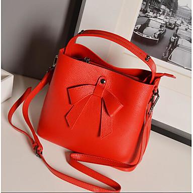 Women Shoulder Bag Cowhide All Seasons Casual Outdoor Square Zipper Black Red Brown