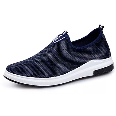 Men's Shoes Tulle Spring Fall Comfort Sneakers Lace-up for Casual Black Dark Blue Blue
