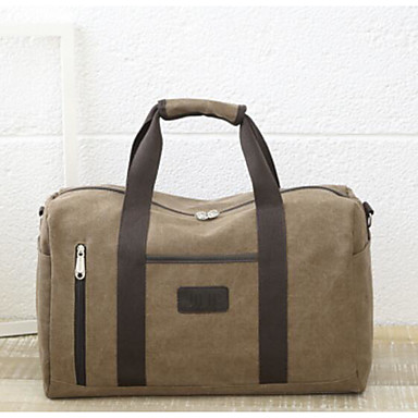 Unisex Travel Bag Oxford Cloth Polyester All Seasons Casual Outdoor Rectangle Zipper Dark Blue Brown Army Green