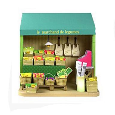 3D-puslespill Papirmodell Modellsett Papirkunst Leketøy Kvadrat 3D Frukt GDS Hardt Kortpapir Unisex Deler