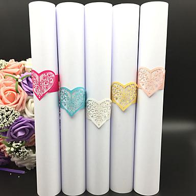 Papel papelão Guardanapos de casamento - 40pcs anéis de guardanapo Natal Casamento Halloween Aniversário Recém-Nascido Festa / Noite
