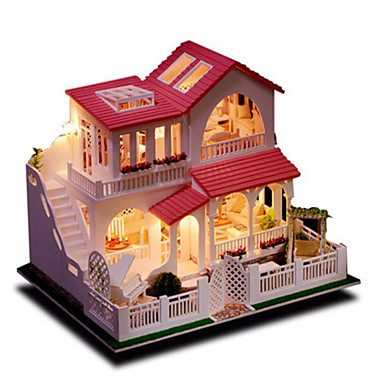Model Building Kit Toys DIY House Natural Wood Classic Pieces Unisex Birthday Gift