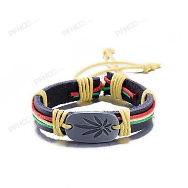 voordelige Herensieraden-Armbanden met ketting en sluiting Vintage Leder Armband sieraden Regenboog Voor Dagelijks gebruik