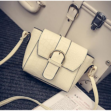 Women Bags All Seasons PU Shoulder Bag for Casual Outdoor White Gray