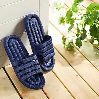 miesten kengät pvc rento tossut& kiikut rento vesi kengät tasainen kantapää ontto-out tummansininen / vaaleanharmaa 44-45