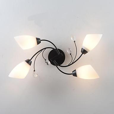 4-Light Flush Mount Ambient Light - Anti-Glare, Mini Style, 220V / 110V Bulb Not Included / 5-10㎡ / E26 / E27