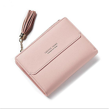 Women Coin Purse Polyester All Seasons Casual Outdoor Square Button Blue Black Blushing Pink