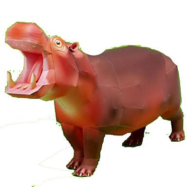 voordelige 3D-puzzels-3D-puzzels Bouwplaat Paard Nijlpaard Dieren DHZ Hard Kaart Paper Kinderen Unisex Speeltjes Geschenk
