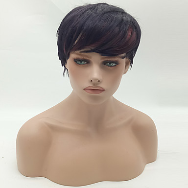 Fashion Straight Brown To Black Color Synthetic Wig Cosplay Wigs