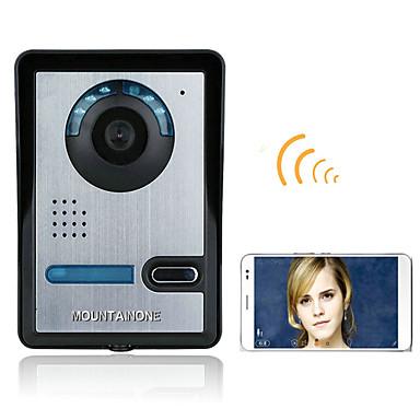 720p vezeték nélküli wifi videó kapu telefonos kaputelefon intercom rendszer éjjellátó vízálló kamera esővel