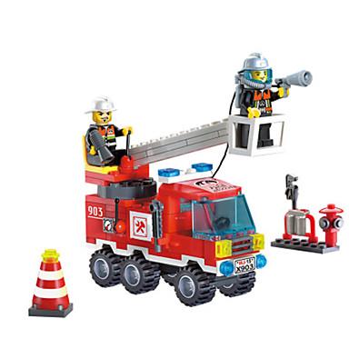 ENLIGHTEN Carros de Brinquedo Blocos de Construir Caminhões de Bombeiros Caminhão de Bombeiro Para Meninos Unisexo Brinquedos Dom