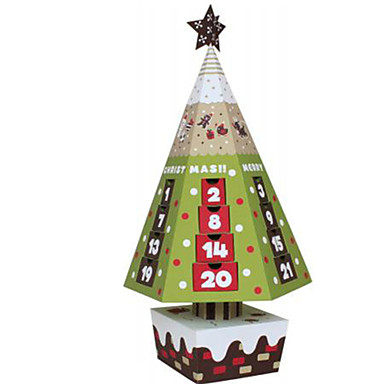 3D Puzzles Paper Model Christmas Trees Model Building Kits Paper Craft Toys Christmas 3D DIY Furnishing Articles Unisex Pieces
