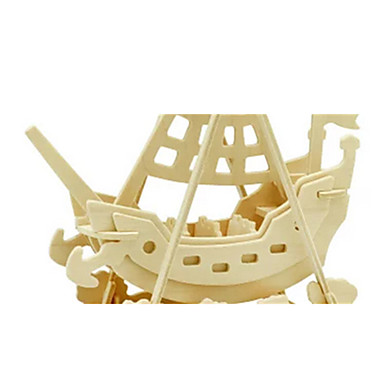 3D Puzzles Jigsaw Puzzle Wood Model Dinosaur Plane / Aircraft Ship 3D DIY Wooden Wood Classic Pirate Unisex Gift