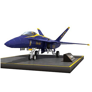 3D Puzzles Paper Model Model Building Kit Fighter Aircraft Hard Card Paper Kid's Boys' Unisex Gift
