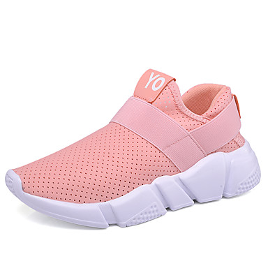 Women's Shoes Rubber Spring Fall Comfort Sneakers Fitness & Cross Training Shoes Flat Heel Round Toe for Athletic Casual Outdoor White