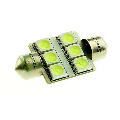 36mm Car Light Bulbs SMD 5050 100lm 6 LED Interior Lights For universal