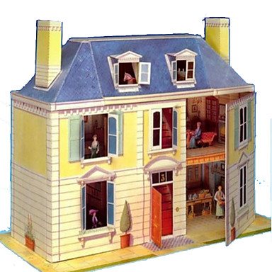 3D Puzzles Paper Craft Famous buildings House Architecture DIY Hard Card Paper Kid's Boys' Unisex Gift