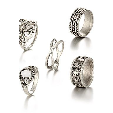 billige Motering-Dame Gull Sølv Legering Uvanlig Asiatisk Unikt design Fest Daglig Smykker X-ring Blomst Billig