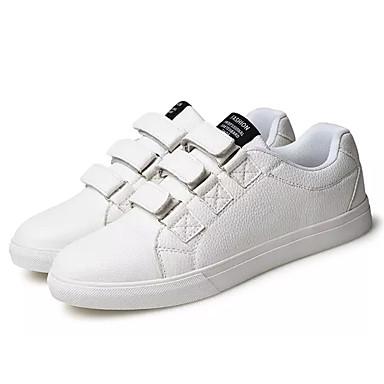 Herre sko PU Vår Høst Komfort Treningssko Snøring til Avslappet Hvit Svart Navyblå