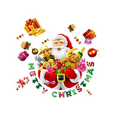 Jul Højtid folk Veggklistremerker Fly vægklistermærker Dekorative Mur Klistermærker Materiale Hjem Dekor Veggoverføringsbilde