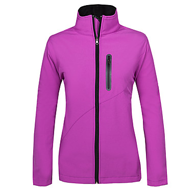 Women's Hiking Softshell Jacket Outdoor Winter Ventilation Anti-Wear Thermal / Warm Windproof Fleece Lining Wearable Top Camping / Hiking