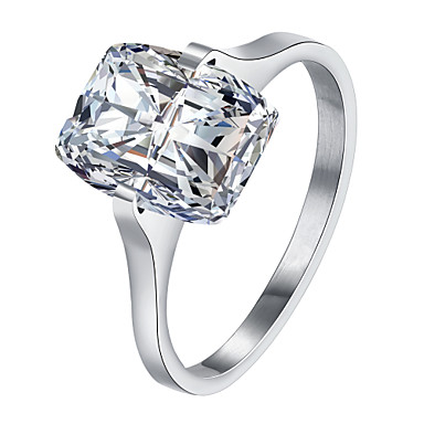 Dame Ring Krystall Kubisk Zirkonium Personalisert Luksus Geometrisk Unikt design Tatovering Klassisk Vintage Rhinestone Bohemsk