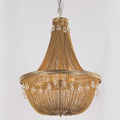 Ecolight™ Luzes Pingente Luz Ambiente - Cristal Designers, Clássica Vintage Retro, 110-120V 220-240V Lâmpada Não Incluída