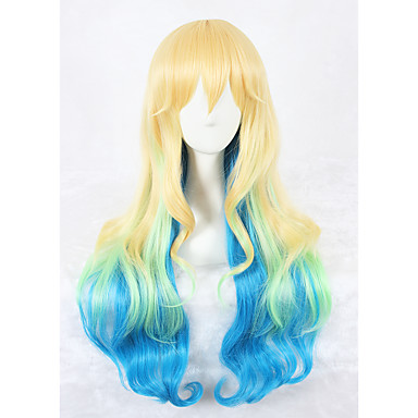 Women Synthetic Wig Long Blonde Cosplay Wig Costume Wig