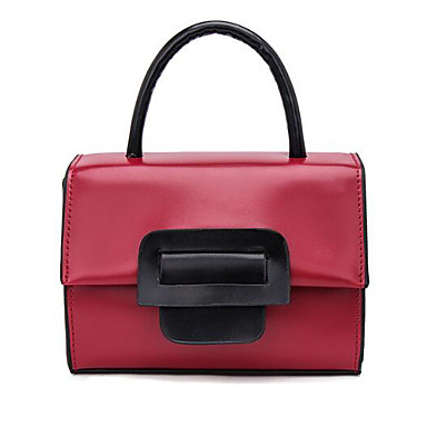 Women Bags All Seasons PU Tote for Casual Outdoor Black Red Yellow
