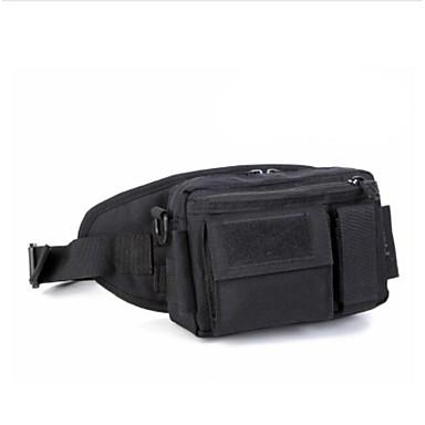 Men Waist Bag Nylon All Seasons Casual Outdoor Round Zipper Green Black Brown