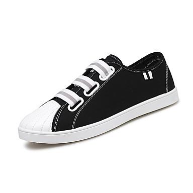 Miehet kengät Canvas Kesä Syksy Comfort Muotisaappaat Lenkkitossut varten Kausaliteetti Valkoinen Musta Harmaa